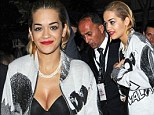 Still feeling Hot Right Now? Rita Ora leaves her blonde wig at her hotel and goes au natural with a short slicked back hairdo