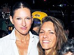 Fashion fun: Jenna Lyons (left) pictured with girlfriend Courtney Crangi at the Opening Ceremony 10-year anniversary party on Sunday night