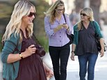 Bumpy the vampire slayer! Sarah Michelle Gellar shows off her burgeoning belly in Beverly Hills