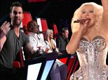 Christina Aguilera dons a bejeweled corset and joins her fellow coaches for a Rolling Stones cover as Season 2 of The Voice kicks off