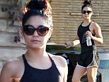 Vanessa Hudgens leaving yoga with a band aid on her arm in Studio City on September 10