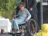 Nancy Reagan goes to have lunch at Il Piccolino in Hollywood, CA