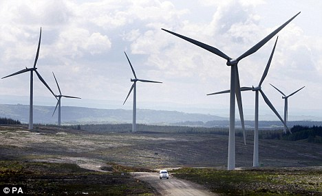 Claims: Windfarms are particularly being used to 'overload' the national grid in weak points