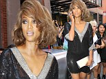 Looking good Ms Banks: Tyra heads to Jeremy Scott show at New York Fashion Week in sequins and big hair