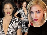 Taking the plunge! Jenna Dewan displays plenty of decolletage in a revealing dress as she goes back to her brunette roots following blonde phase
