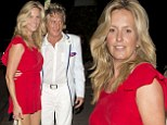 Date night with Stewart: Rocker Rod and his wife Penny Lancaster beam as they head home following dinner