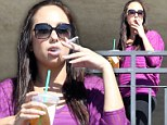 Not doing herself any favours! Dancer Cheryl Burke smokes cigarette during Dancing With The Stars training break