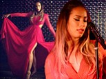 Leona Lewis becomes a lady in red for intimate gig in London nightclub as she prepares for return to the charts