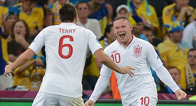Party poopers: Wayne Rooney's goal for England helped knock host nation, Ukraine out of Euro 2012