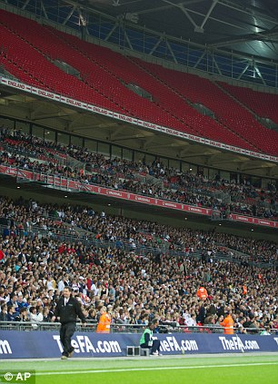 Spare tickets: Wembley's upper tier was deserted