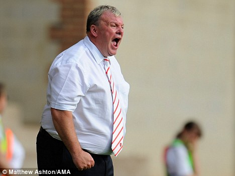 Hot water: Steve Evans has been hit with six-match stadium ban and fine