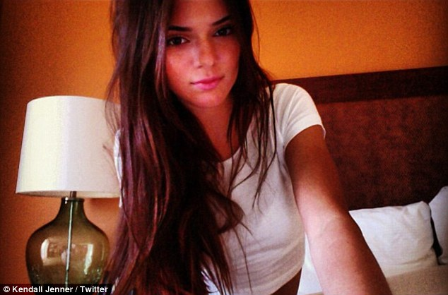 Tousled: Kendall posted a snap of her messy hair while singer on her bed