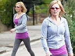 You look more like Sporty Spice! Geri Halliwell ditches her recent sexy style and steps out in leggings and a hoody