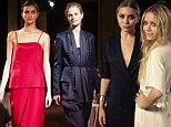 Olsen twins show off their Japanese inspired collection on the runway