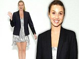 Catwalk princess! Leggy Whitney Port soaks up the applause after launching spring clothing line at New York Fashion Week