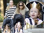 There's a new queen of New York! Sarah Jessica Parker's daughter Marion dons a gold crown for stroll in the city
