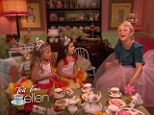 Laugh a minute: Reese is genuinely tickled by what Sophia Grace and Rosie have to say