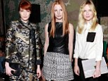 Florence Welch puts her best fashion foot forward as she joins Kirsten Dunst and Jessica Chastain at Proenza Schouler show