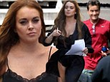Hollywood wild ones: Charlie Sheen and Lindsay Lohan were spotted on set of Scary Movie 5 for the first time