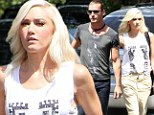 Hand-in-hand: Gwen Stefani arrived at a Burbank, Los Angeles studio with her husband Gavin Rossdale on Wednesday