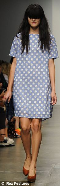 Sorbet summer: Tossing in what she does best, the New Zealand designer took her slightly offbeat, tomboy idiom and sweetened it up with a milkshake-hued collection of rose, periwinkle, and powder blue