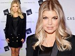 How very Glamorous! Fergie covers up her curves in black tuxedo jacket but still shows off her enviable legs