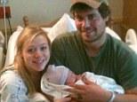 Baby joy: Levi Johnston, girlfriend Sunny Oglesby and their daughter Breeze Beretta at the Matsu Regional Hospital in Wasilla, Alaska
