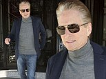 Michael Douglas running errands in New York City