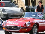 He must be bored of cougars: One Direction's Harry Styles test drives vintage Jaguar E-Type Roadster and a £82,000 Porsche 911 Sport Classic