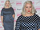 She got it wrong again! Claire Richards arrives at the Prima High Street Awards wearing an unflattering polka dot dress