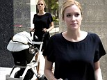Kristin Cavallari takes newborn son Camden Jack Cutler for a stroll in Chicago, Illinois