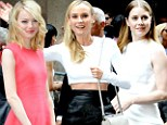 Battling for best-dressed! Emma Stone, Diane Kruger and Amy Adams swan to the front row at Calvin Klein