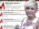 'I want some passion': Cryptic Miley Cyrus takes to Twitter to plead for love