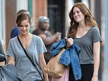 Retail therapy: Mandy Moore and Minka Kelly went shopping together at the Bowery in New York today