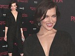 Milla Jovovich at the premiere of Resident Evil: Retribution