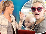 Baby talk: Kate Hudson spoke to Ellen Degeneres about the birth of her son Bing