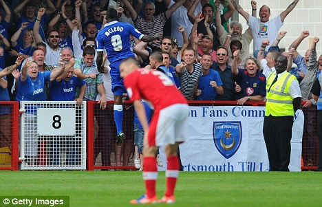 Here we go: Izale McLeod scored for Portsmouth against Crawley