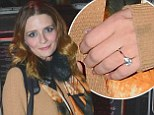 Mischa Barton sparks rumours of engagement to actor beau Sebastian Knapp as she's spotted wearing huge diamond ring