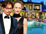 Sprawling: Johnny Depp has reportedly purchased this home off of Hollywood's Mulholland Drive for former partner Vanessa Paradis