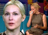 Speaking out: Kelly Rutherford fought back tears during her appearance on The View Thursday morning