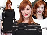 Sleek and sophisticated: Christina Hendricks shows off new hairstyle as she dons peek-a-boo dress for play opening night