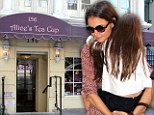 Mommy's big girl! Suri Cruise gets indulged by Katie Holmes with tea and cake after day at school