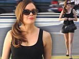 Rose McGowan charms in leather shorts during Sunset Strip stroll