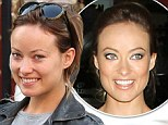 Make-up free 'Rush' actress Olivia Wilde having a coffee with a friend in New York City, NY, USA.