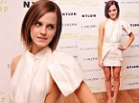 Emma Watson flashes her cleavage AGAIN... but this time she meant to in revealing sideless dress