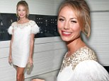 By George, she'd make a lovely bride! Stacy Keibler steps out in stunning white minidress