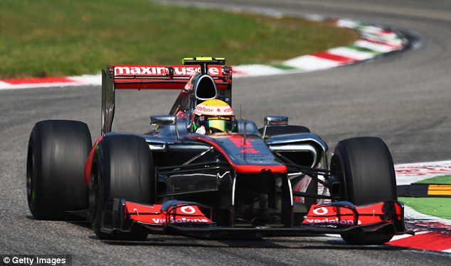 Heading for victory: Hamilton was back to his best at the Italian Grand Prix in Monza over the weekend