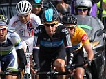 Out: Bradley Wiggins (centre) picked up a stomach bug over night