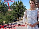The scene where Kate was photographed by a snapper