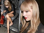 One very leggy lady! Taylor Swift puts her slim pins on display as she dines out in Brazil
